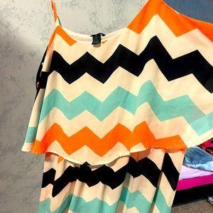 Women's plus size mid length peplum dress